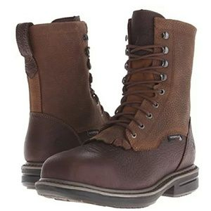 MENS WOLVERINE ROSCOE LACER WORK BOOTS SZ 8.5